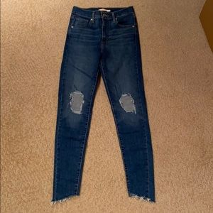 Levi's Sculpt Mile High Super Skinny Jeans Size 26